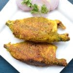 Stuffed mackerel with green masala