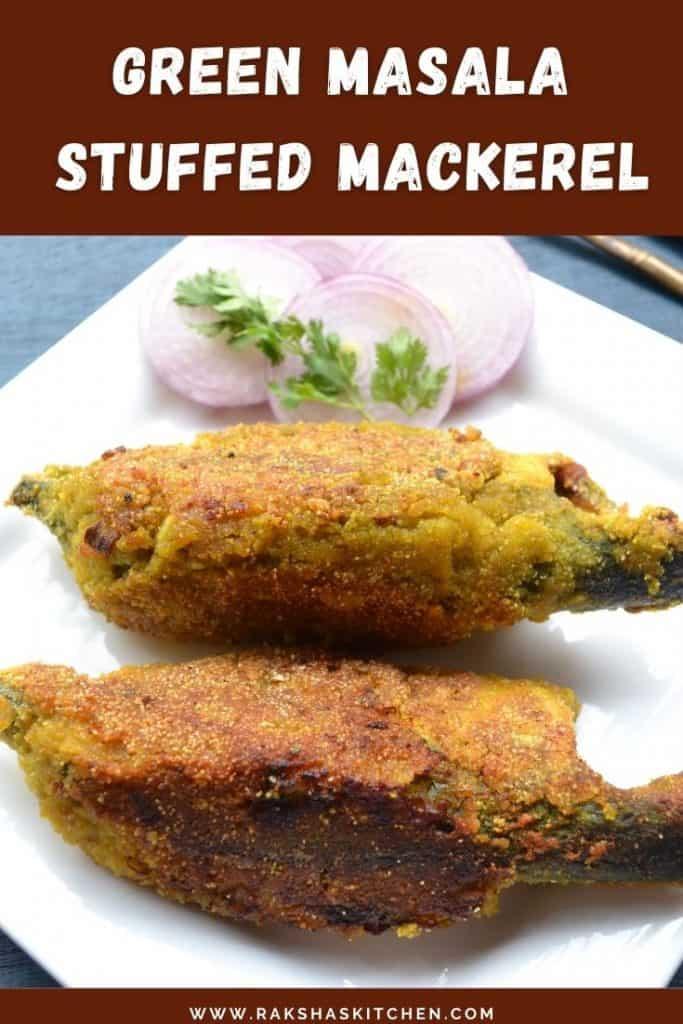 Mackerel stuffed with green masala