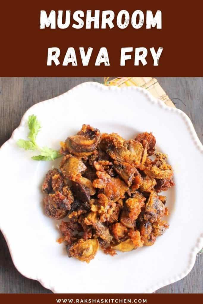 Mushroom Rava Fry Recipe