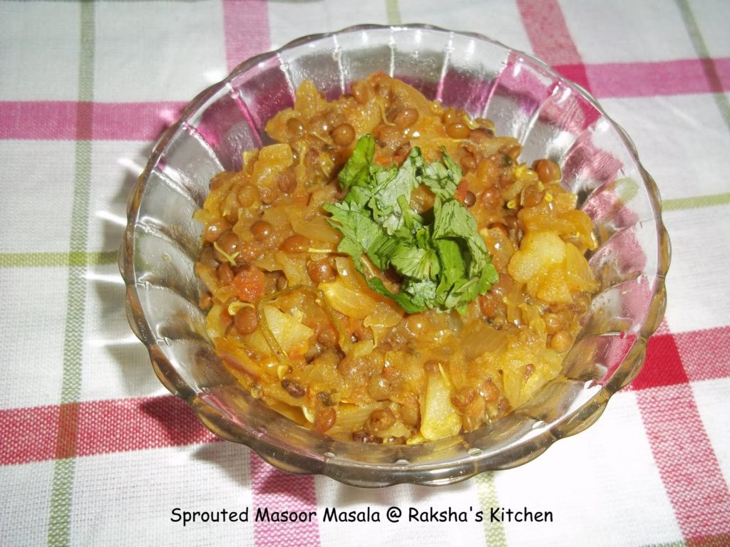 Sprouted Masoor Masala