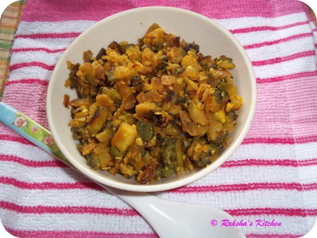 Karatyachi Kishmoor, bittergourd kismoor, bitter gourd recipe