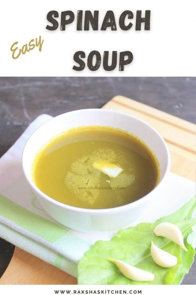 Indian Spinach Soup