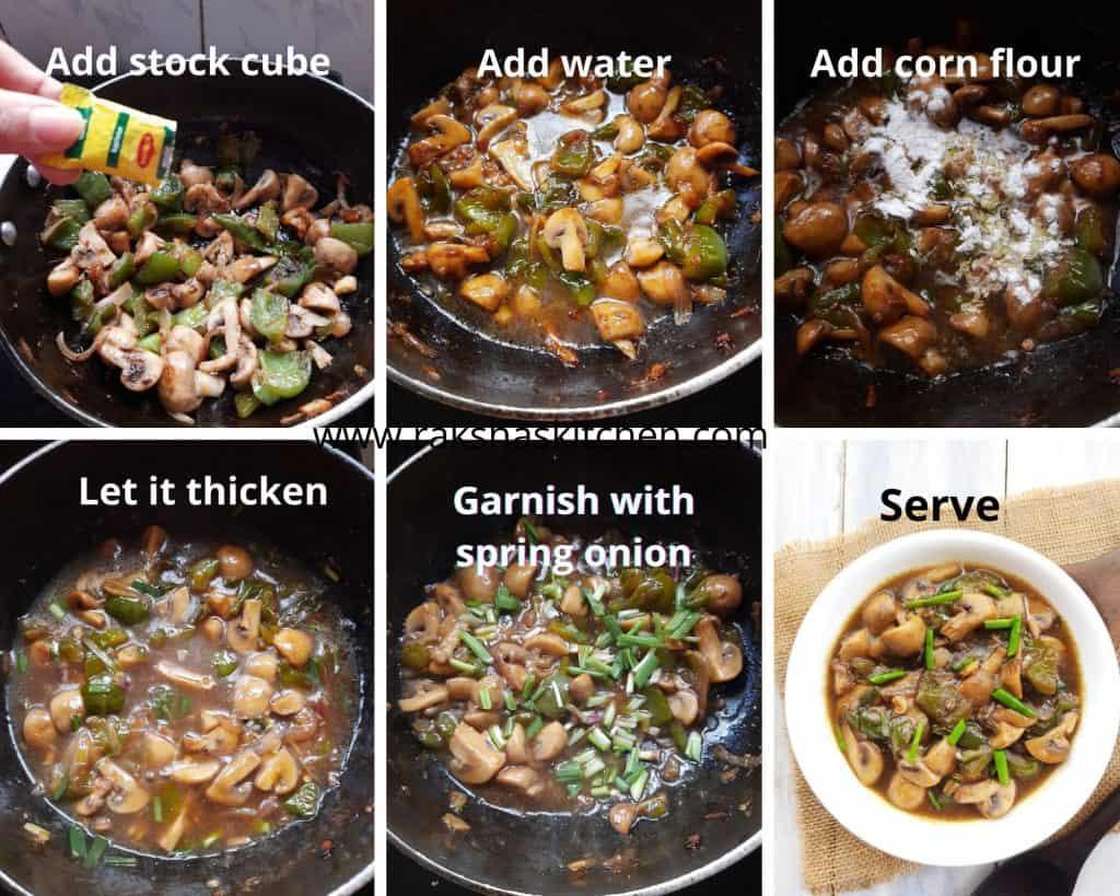 steps to make chilli mushroom gravy