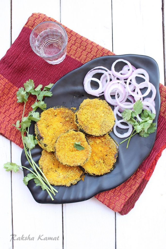 Rava Fried Brinjal