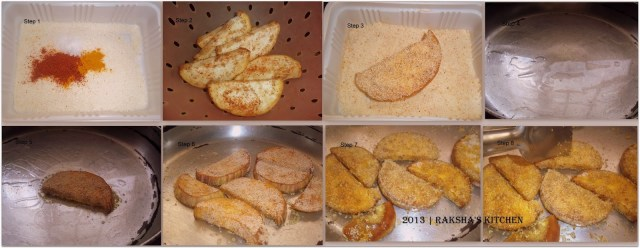 Steps to make eggplant fry with semolina