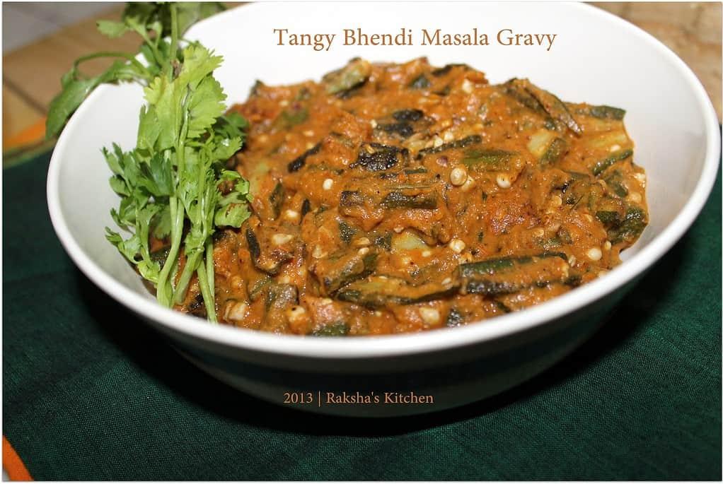 Tangy Bhendi Masala Gravy