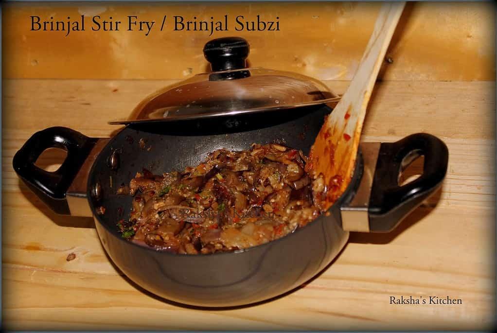 Eggplant Stir Fry |,Brinjal Subzi