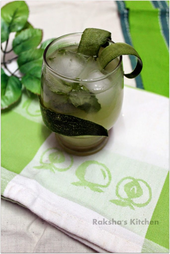 Coconut Cucumber Lemonade Mocktail