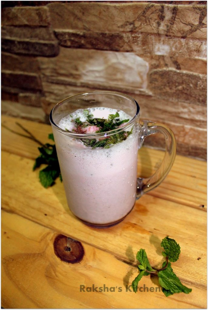 Rose Mint Lassi