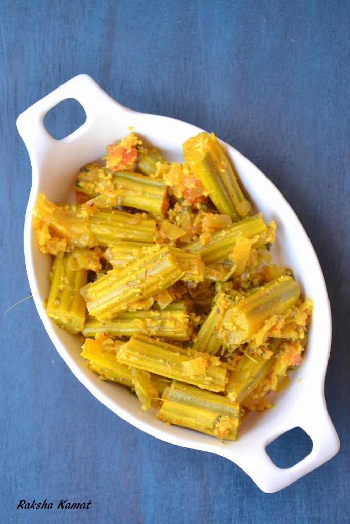 SangachiA Bhaji, Goan drumstick subzi, sango, drumstick curry, drumstick stir fry