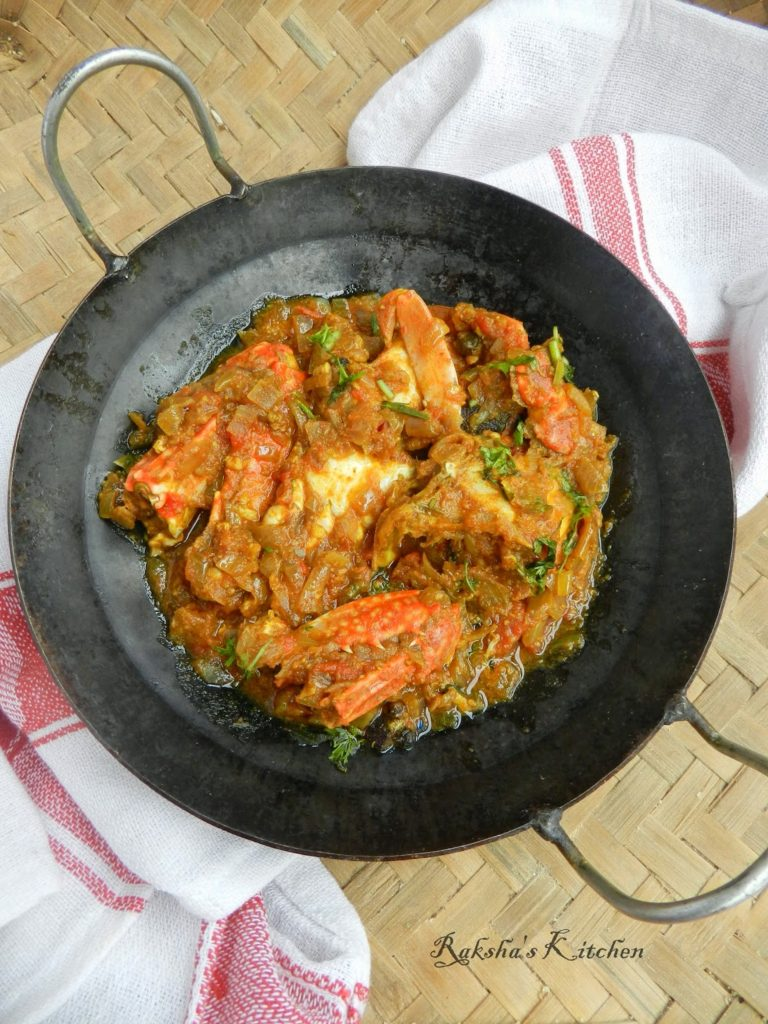 Crab Masala, Crab recipe, crab legs