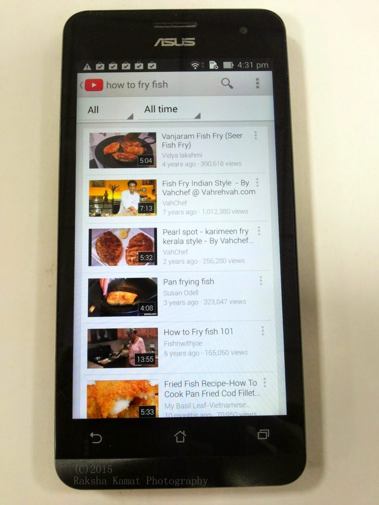 How To Clean Prawns – Video Recorded Using MyAsusZenFone