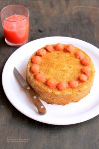 Watermelon rind cake