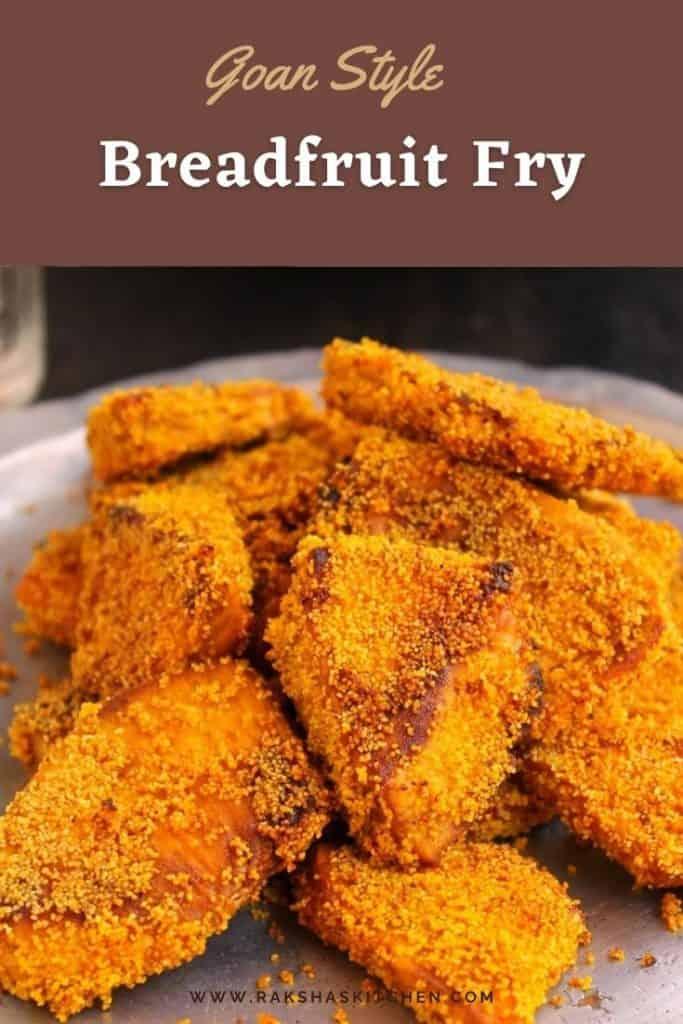 Goan style breadfruit fry