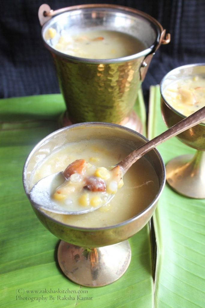 Goan chana dal payasam with sabudana