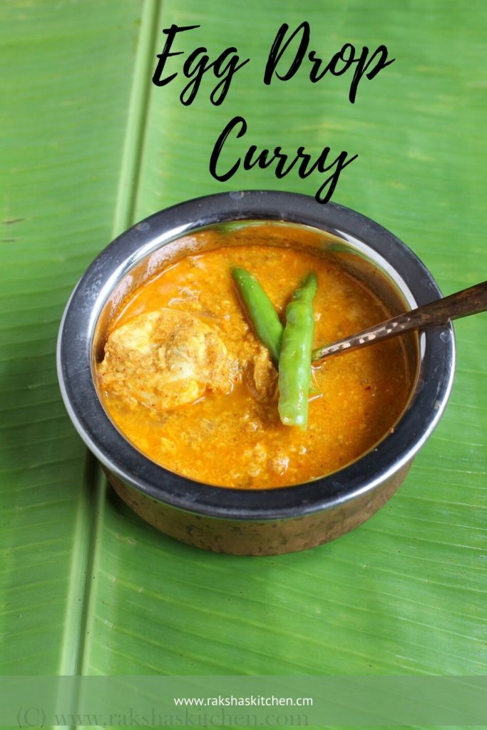 Egg drop curry recipe