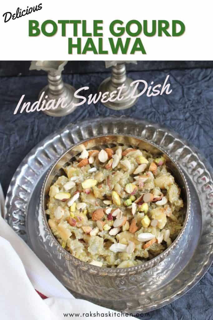 Bottle Gourd pudding Indian sweet