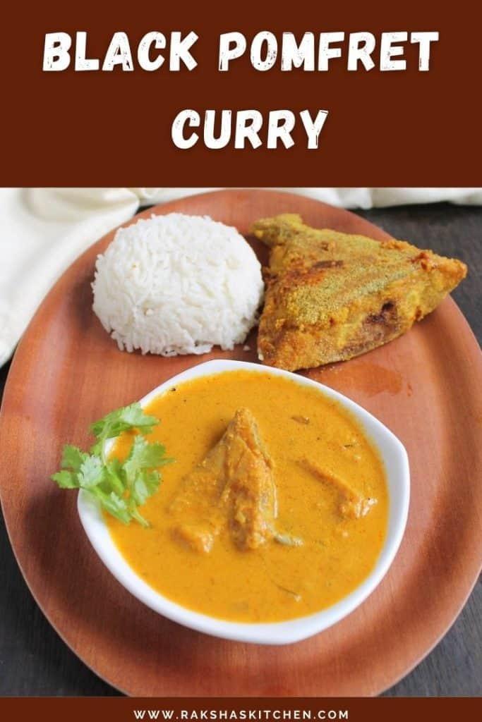 Black pomfret curry