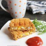 Grilled corn cheese sandwich recipe