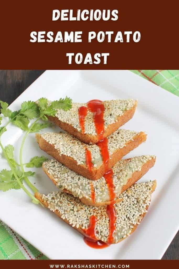 Sesame potato toast recipe