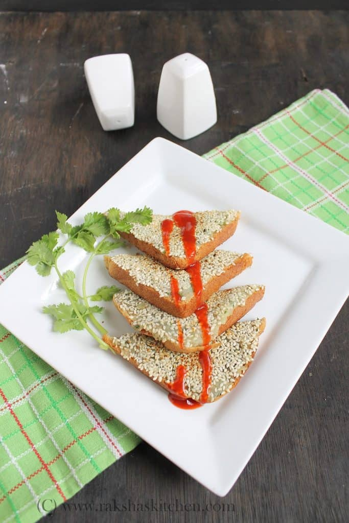 Sesame potato toast