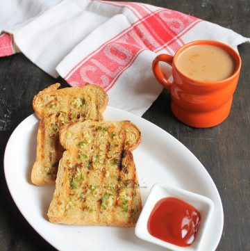 Chili garlic toast