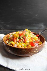 Mexican corn bell pepper salsa