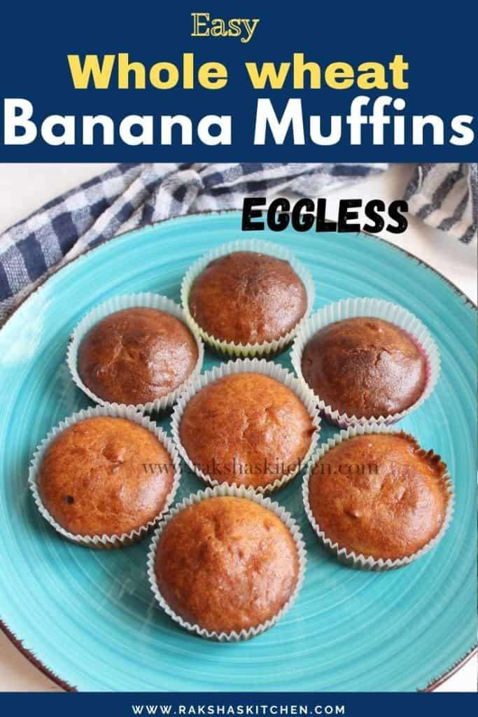 Whole wheat banana muffins