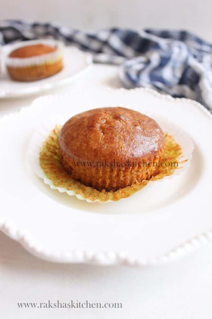 banana muffins eggless whole wheat