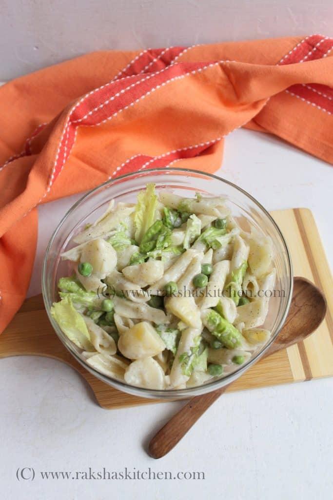 cold pasta salad with potato