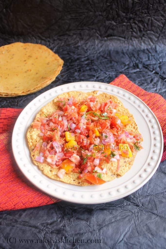 Fried masala papad
