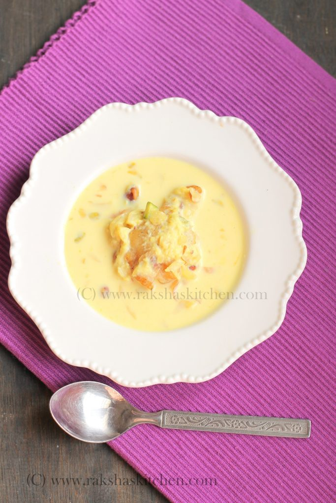 Banana Fritters In Rabdi | RasMalai With Banana Fritters