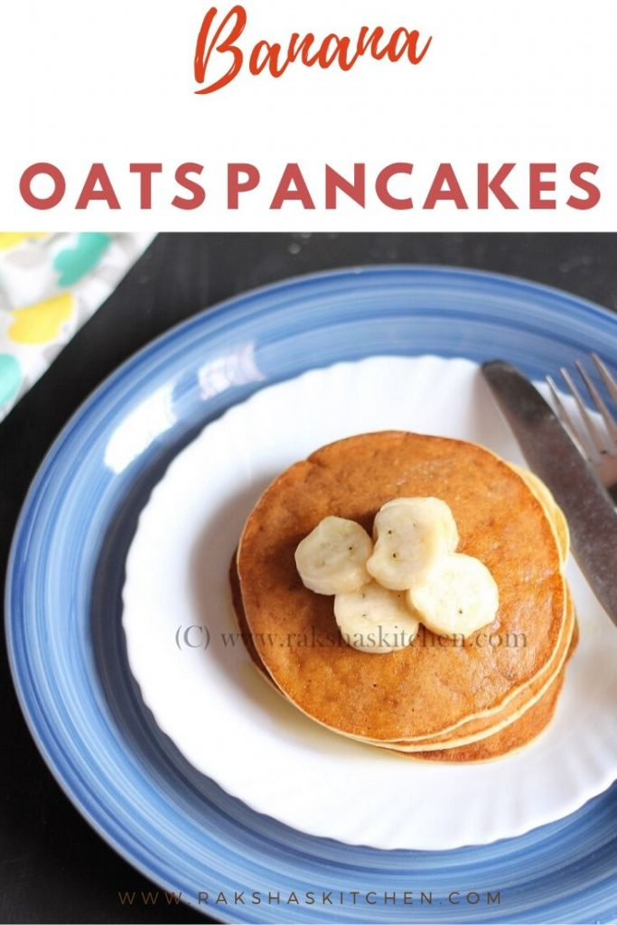 Banana and oats pancakes