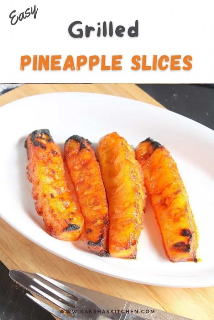 Easy grilled pineapple slices