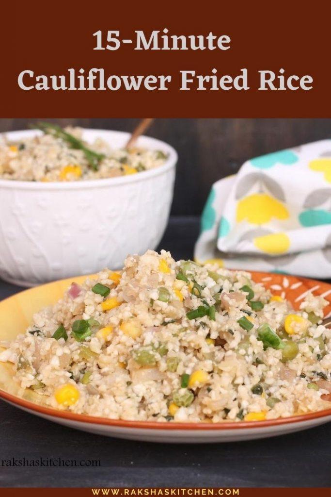 15-minute cauliflower rice recipe