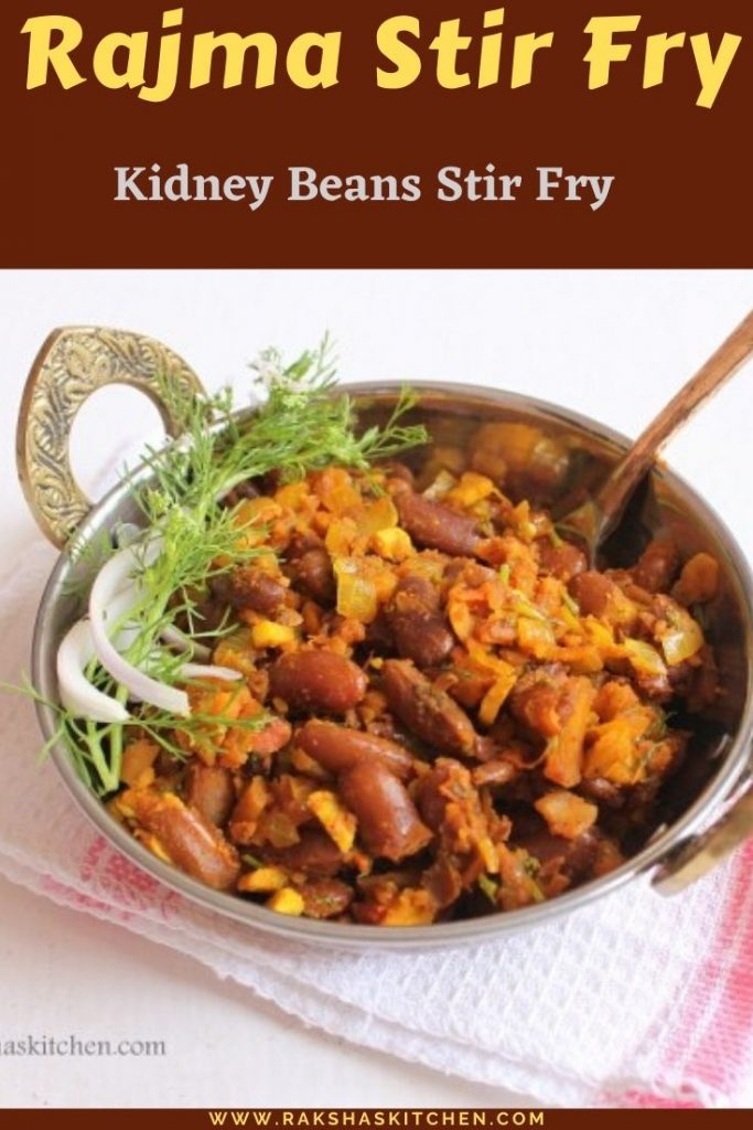 Rajma Stir fry recipe