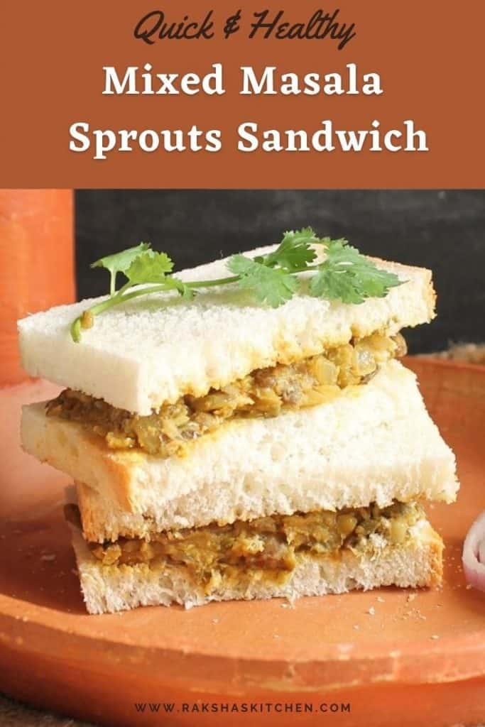 mixed masala sprouts sandwich