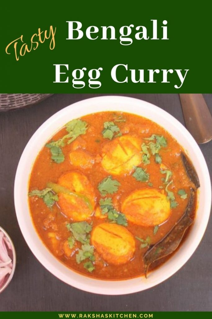 Egg curry with potato Bengali style