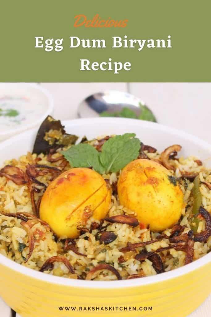 Egg dum biryani recipe