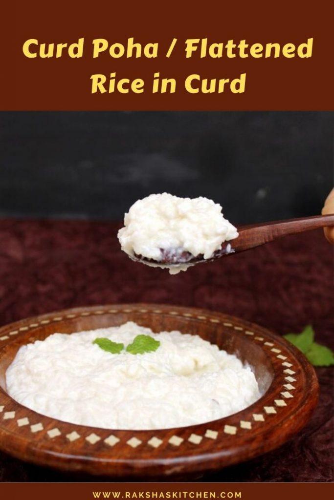 Flattened rice in curd