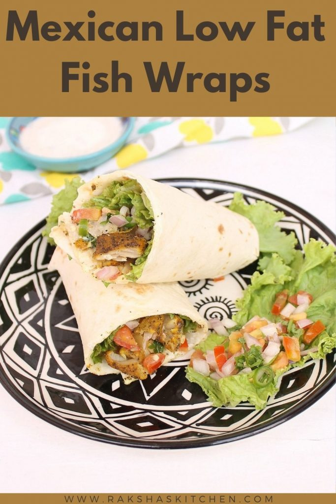Fish wraps recipe Mexican style