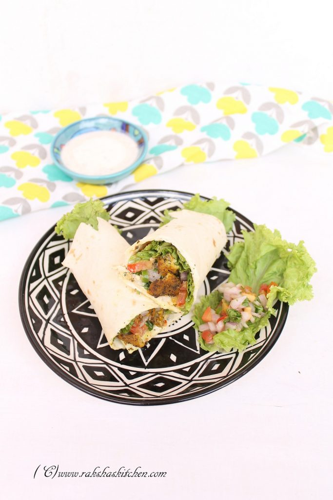 Mexican low fat fish wraps