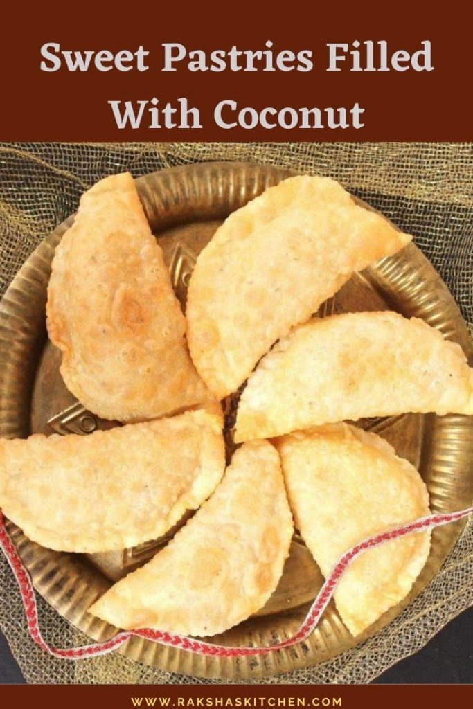 Sweet Pastries Filled with coconut - Nevri