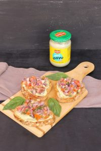 Bruschetta With Tomato and Onion