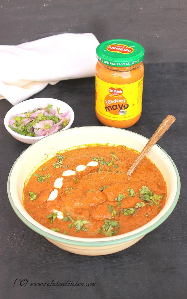 Butter Chicken Recipe With Tandoori Mayo