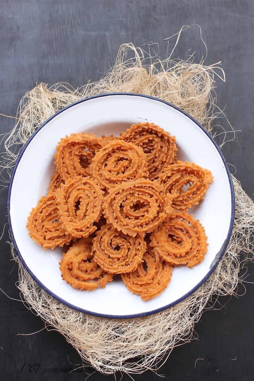 Rice flour chakri, chakri, muruku