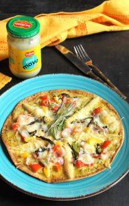 Veg tortilla pizza with mayo