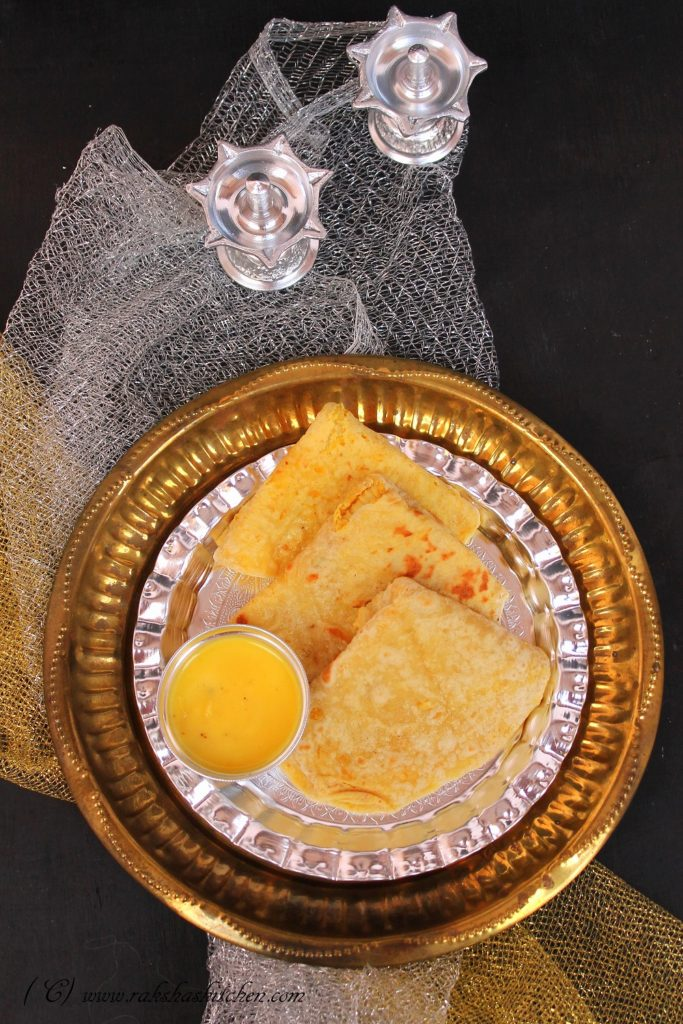 Puran Poli Recipe (Sweet Stuffed Lentil Flat Bread)