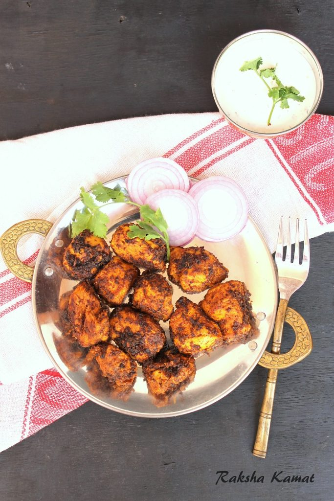 Pan fried chicken tikka