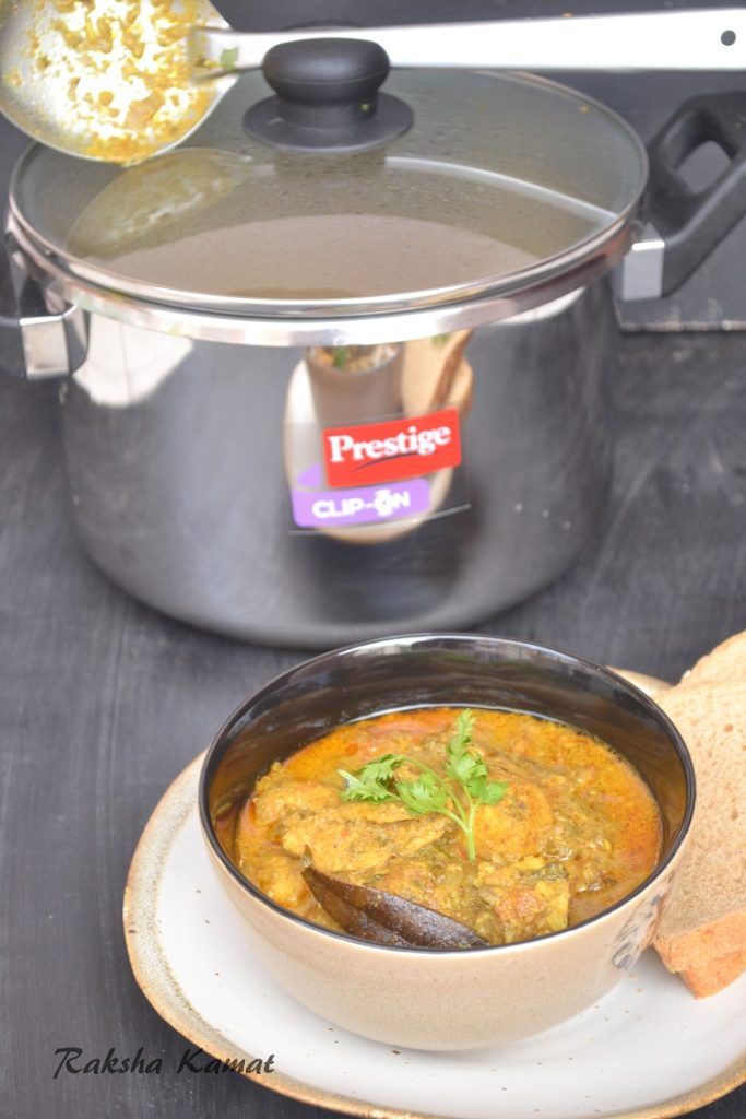 Pressure Cooker Chicken Curry And A Review Of TTK Prestige Clip-On Pressure Cooker